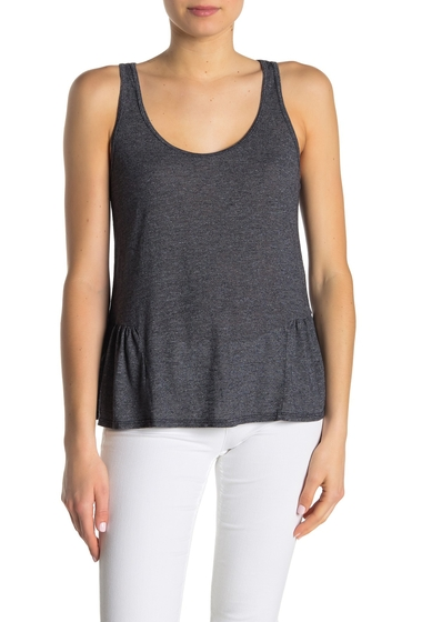Imbracaminte Femei Michael Stars Scoop Neck Side Ruffle Tank Top ADMIRAL