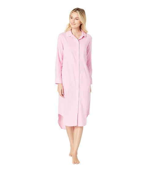 Imbracaminte Femei LAUREN Ralph Lauren Long Sleeve Rounded Collar Ballet Sleepshirt Pink Plaid