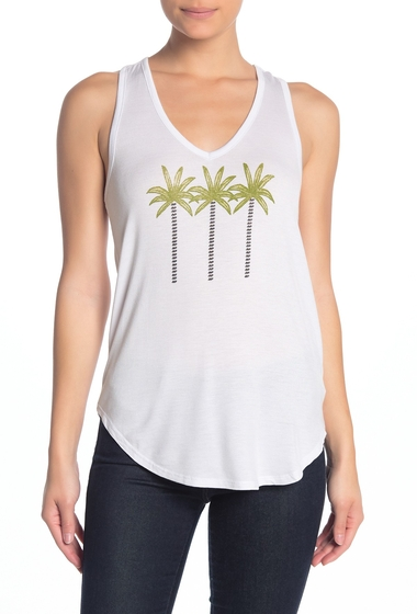 Imbracaminte Femei Abound Racerback Graphic Tank Top WHITE PALM TREES