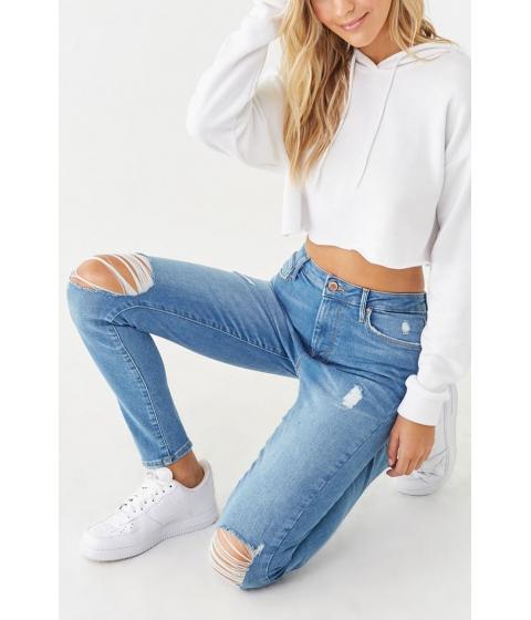 Imbracaminte Femei Forever21 Distressed Super Skinny Jeans MEDIUM DENIM