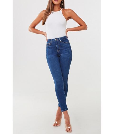 Imbracaminte Femei Forever21 The Sunset Super High-Rise Curvy Jeans DARK DENIM