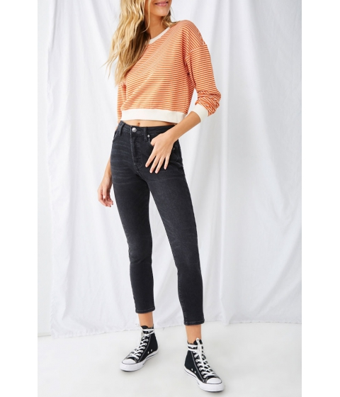 Imbracaminte Femei Forever21 Faded High-Rise Mom Ankle Jeans BLACK