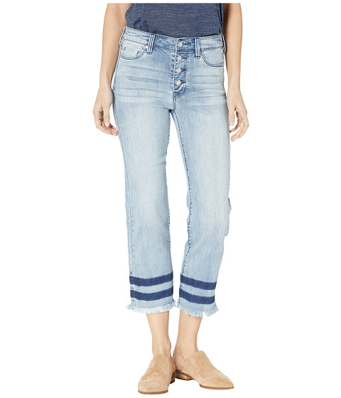 Imbracaminte Femei Liverpool Sadie Crop Straight Jeans w Exposed Buttons in Eco-Friendly Denim in Stonehenge Stonehenge