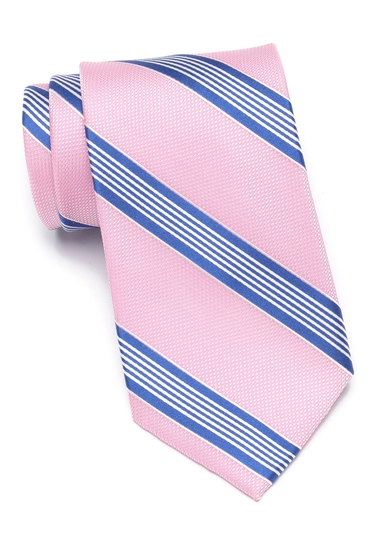 Accesorii Barbati Tommy Hilfiger Medium Multi-Stripe Tie PINK