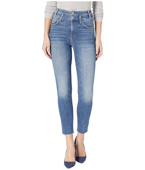 Imbracaminte Femei 7 For All Mankind High-Waisted Roxanne Ankle with Double Waist Band amp Cut Off Hem in Desert Oasis Desert Oasis