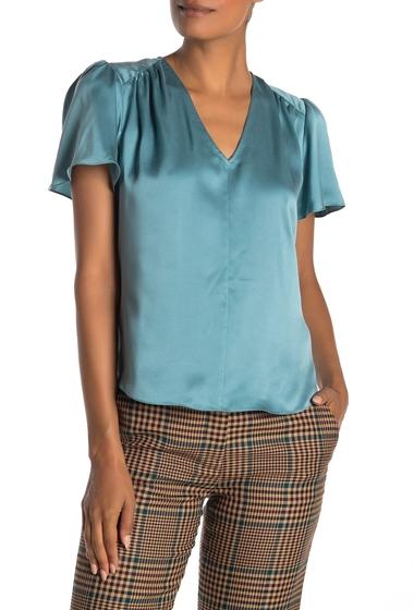 Imbracaminte Femei Rebecca Taylor Charmeuse Silk Short Sleeve Top LIGHT TEAL