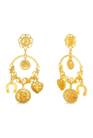 Bijuterii Femei Steve Madden Chandelier Filigree Lucky Charm Earrings METALIC