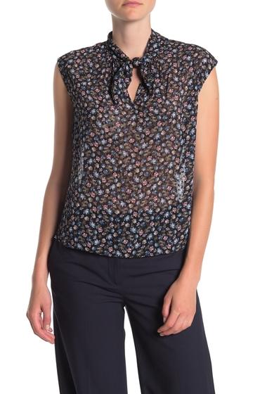 Imbracaminte Femei Rebecca Taylor Zelma Floral Silk Blend Blouse BLACK COMBO