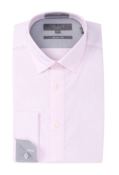 Imbracaminte Barbati Ted Baker London Lionn Modern Fit Print Dress Shirt LT-PINK