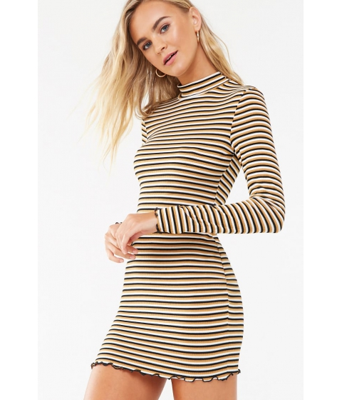 Imbracaminte Femei Forever21 Striped Bodycon Dress IVORYMUSTARD