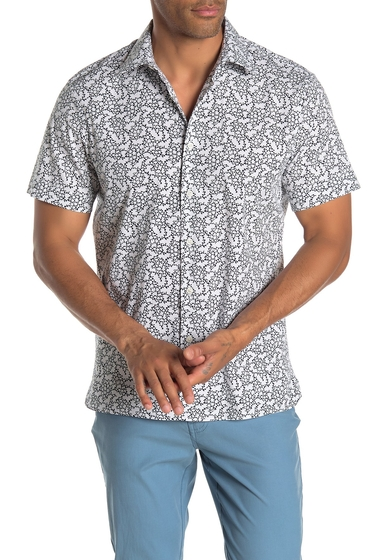Imbracaminte Barbati Perry Ellis Slim Fit Floral Print Shirt ECLIPSE