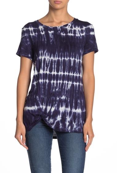 Imbracaminte Femei C C California Shibori Tie-Dye Twist Front T-Shirt NAVY