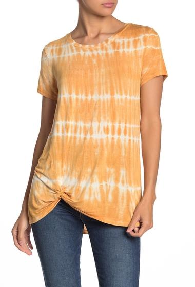 Imbracaminte Femei C C California Shibori Tie-Dye Twist Front T-Shirt MARIGOLD