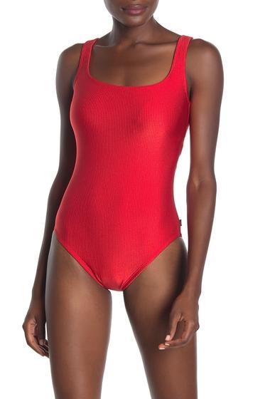 Imbracaminte Femei Reebok Sport Ribbed One-Piece Swimsuit RED