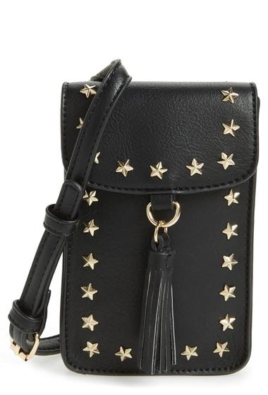 Genti Femei BP Studded Faux Leather Phone Crossbody Bag BLACKGOLD