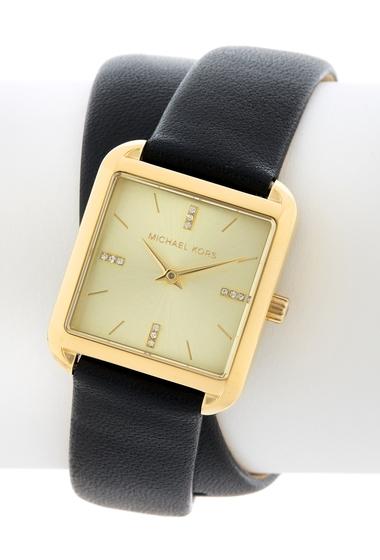 Ceasuri Femei MICHAEL Michael Kors Womens Drew Leather Strap Watch 33mm x 39mm NO COLOR