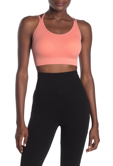 Imbracaminte Femei Z By Zella Waffle Texture Seamless Solid Sports Bra CORAL CLAY