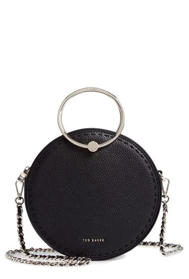 Genti Femei Ted Baker London Maddie Circle Leather Crossbody Bag BLACK