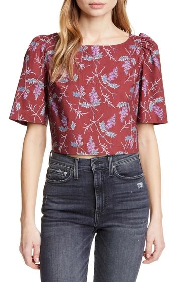 Imbracaminte Femei Rebecca Taylor Ivie Floral Tie Back Crop Top HENNA COMB