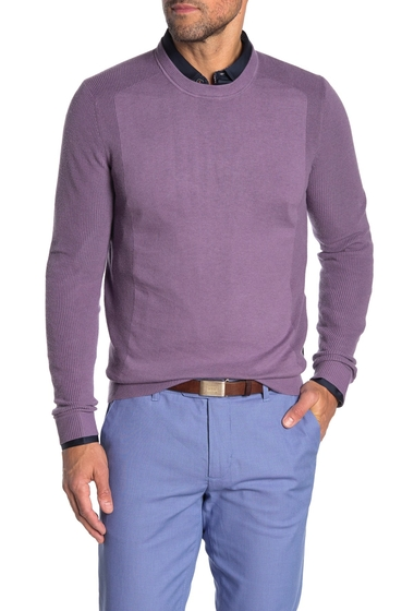 Imbracaminte Barbati Ted Baker London Reversy Slim Fit Crewneck Long Sleeve T-Shirt MID-PURPLE