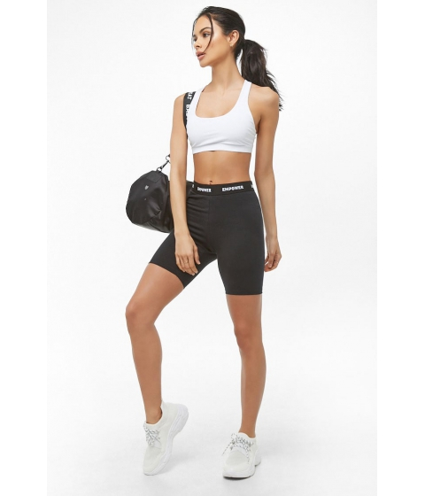 Imbracaminte Femei Forever21 Active Empower Graphic Biker Shorts BLACK