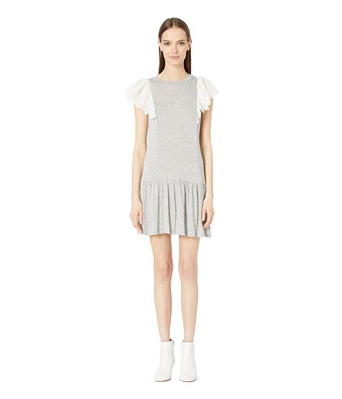 Imbracaminte Femei Rebecca Taylor Livy Eyelet Jersey Dress Grey
