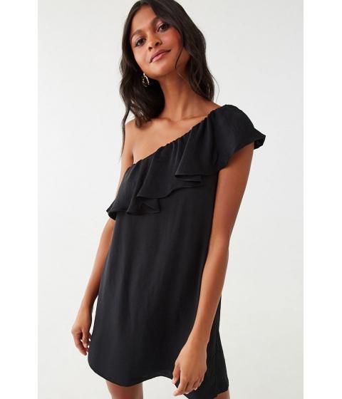 Imbracaminte Femei Forever21 One-Shoulder Flounce Mini Dress BLACK