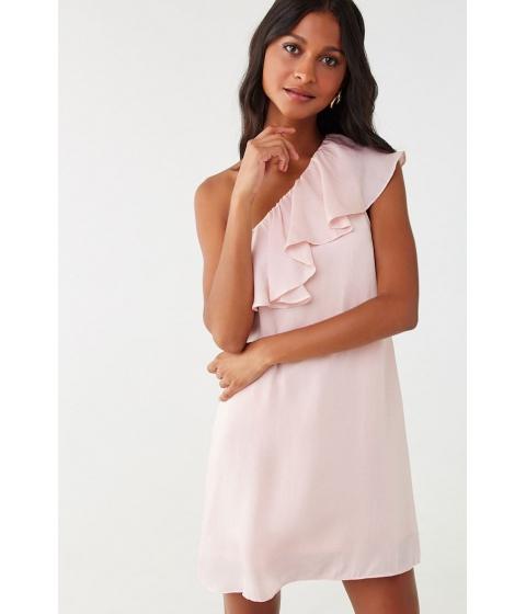 Imbracaminte Femei Forever21 One-Shoulder Flounce Mini Dress BLUSH