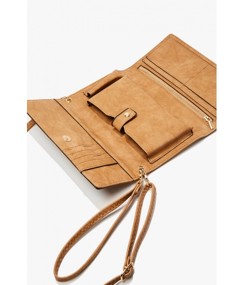 Genti Femei Forever21 Faux Leather Crossbody Clutch TAUPE