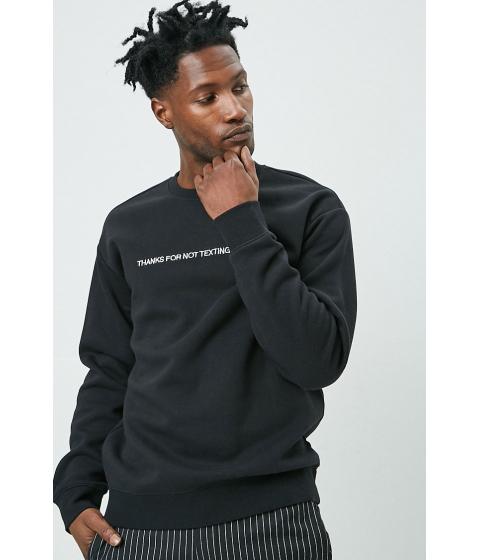 Imbracaminte Barbati Forever21 Texting Graphic Sweatshirt BLACKWHITE