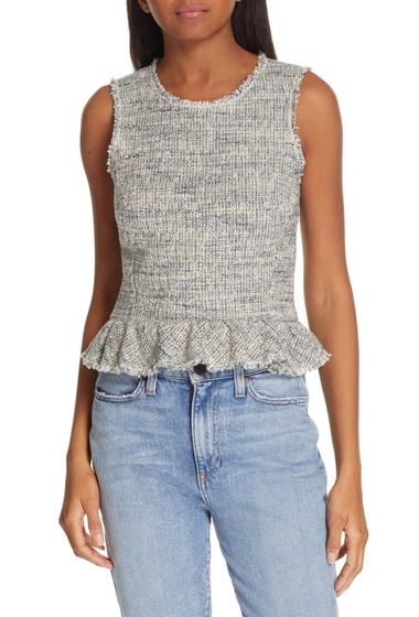 Imbracaminte Femei Rebecca Taylor Sleeveless Tweed Peplum Top BLUE-GREY