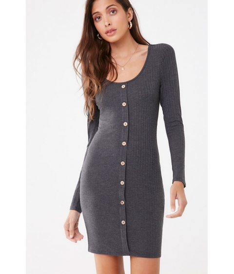 Imbracaminte Femei Forever21 Ribbed Bodycon Mini Dress CHARCOAL