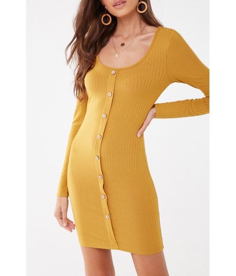 Imbracaminte Femei Forever21 Ribbed Bodycon Mini Dress MUSTARD