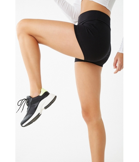 Imbracaminte Femei Forever21 Active Fold-Over Athletic Shorts BLACK