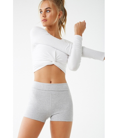 Imbracaminte Femei Forever21 Active Fold-Over Athletic Shorts HEATHER GREY