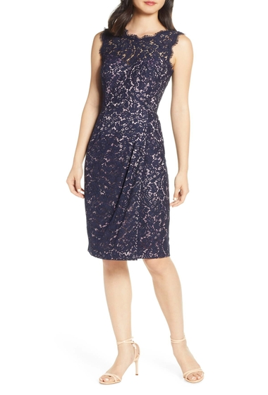 Imbracaminte Femei Eliza J Embroidered Lace Sheath Dress Petite Regular NAVY