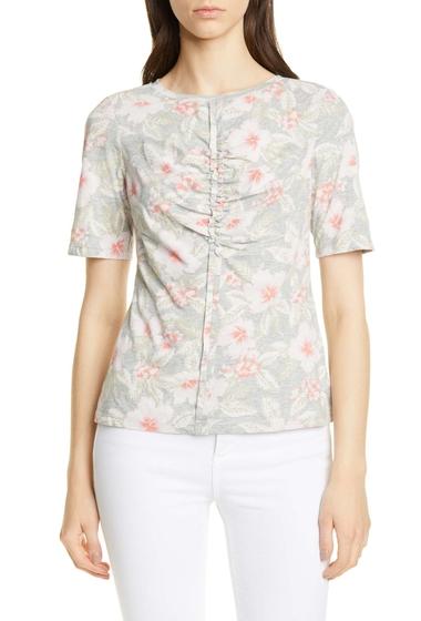Imbracaminte Femei Rebecca Taylor Kamea Floral Cotton Jersey Top GREY MELAN