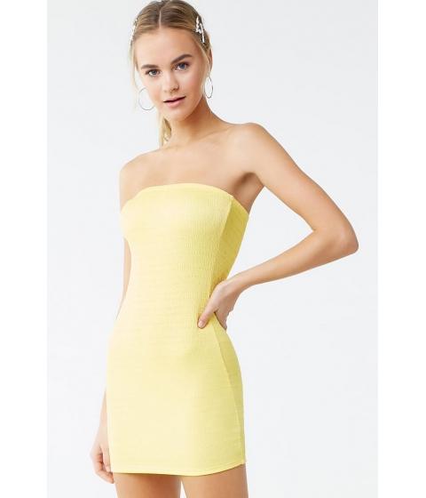 Imbracaminte Femei Forever21 Smocked Tube Mini Dress YELLOW