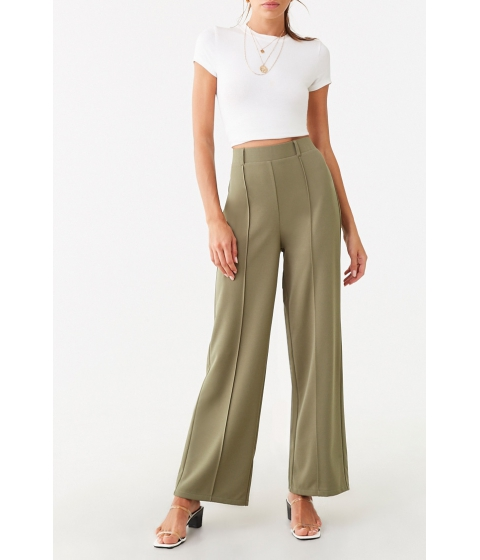Imbracaminte Femei Forever21 Seamed Wide-Leg Pants OLIVE