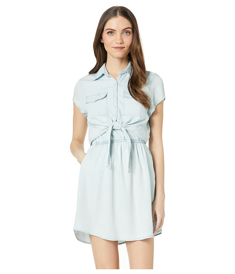 Imbracaminte Femei Jack by BB Dakota Chambray You Stay Dress with Tie Front Washed Out Chambray