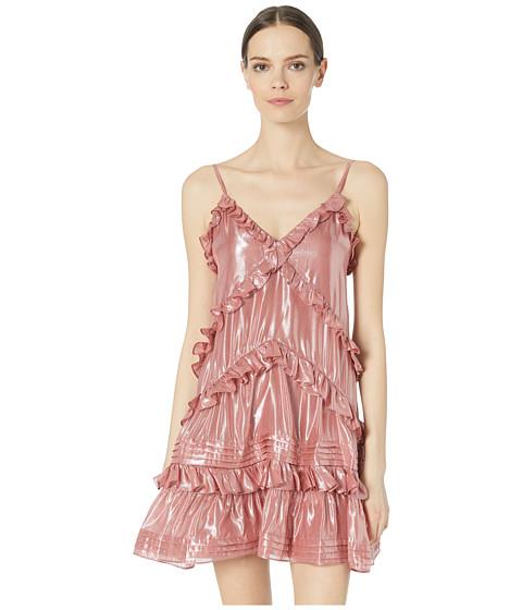 Imbracaminte Femei Rebecca Taylor Metallic Chiffon Ruffle Dress Rose