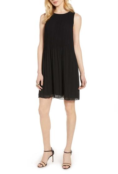 Imbracaminte Femei Halogen Pleated Sleeveless Shift Dress Regular Petite BLACK