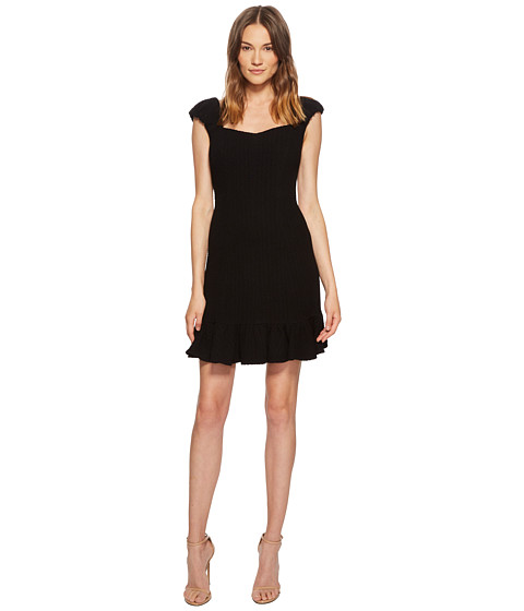 Imbracaminte Femei Rebecca Taylor Short Sleeve Stretch Texture Dress Black