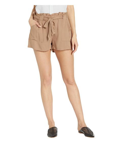 Imbracaminte Femei BB Dakota Belt It Out Rayon Twill Shorts Sienna