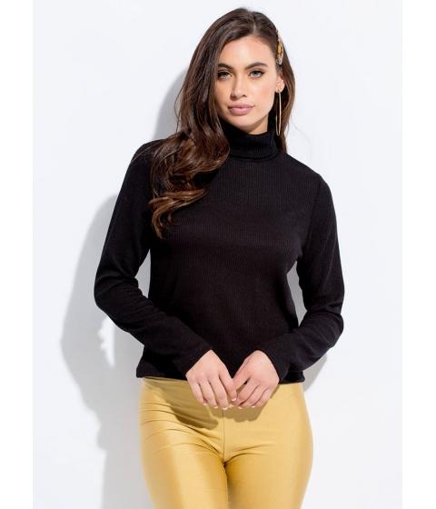 Imbracaminte Femei CheapChic Cover Me Rib Knit Turtleneck Top Black