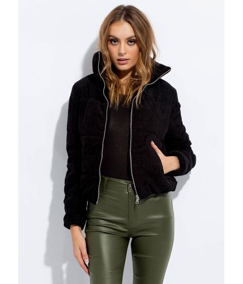Imbracaminte Femei CheapChic Puff Piece Padded Corduroy Jacket Black