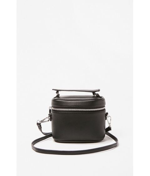 Genti Femei Forever21 Zippered Crossbody Bag BLACK