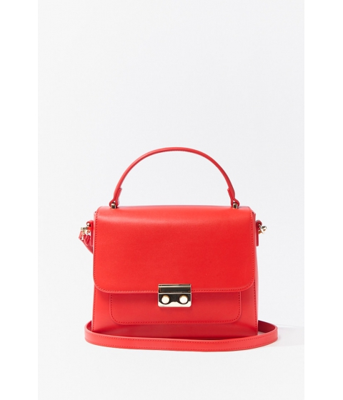 Genti Femei Forever21 Structured Flap-Top Satchel RED