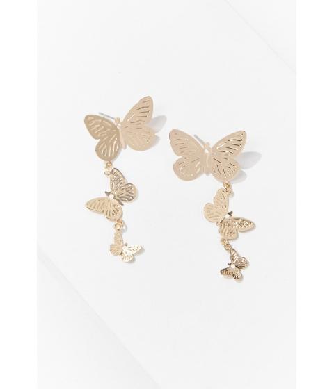 Bijuterii Femei Forever21 Butterfly Drop Earrings GOLD
