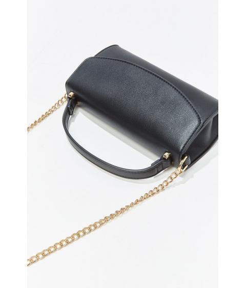 Genti Femei Forever21 Curb Chain-Accent Crossbody Bag BLACK